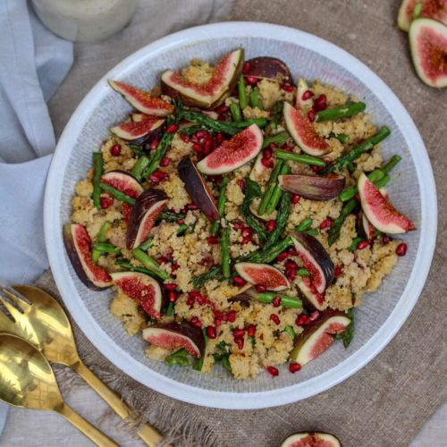 MOROCCAN COUS COUS SALAD WITH FIGS AND ASPAGUS