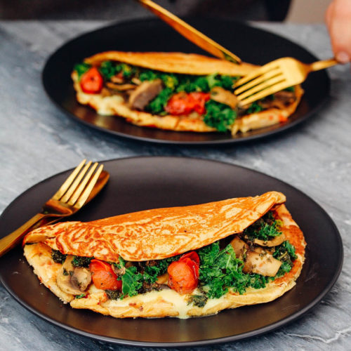 CHEESY CHICKPEA OMELETTES