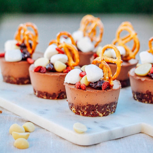 ROCKY ROAD CHEESECAKES